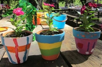 Painting Planters Event